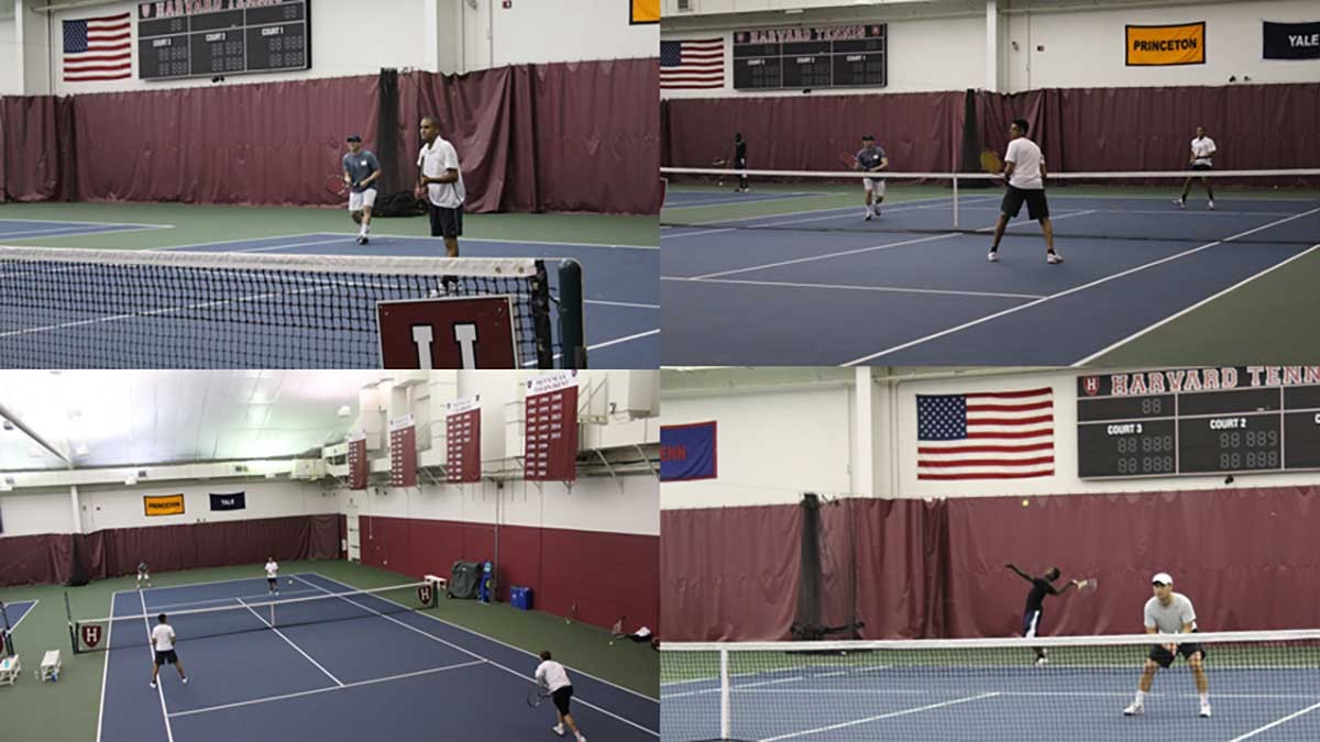Bain Capital employees team up with Tenacity students for round robin tennis tournament