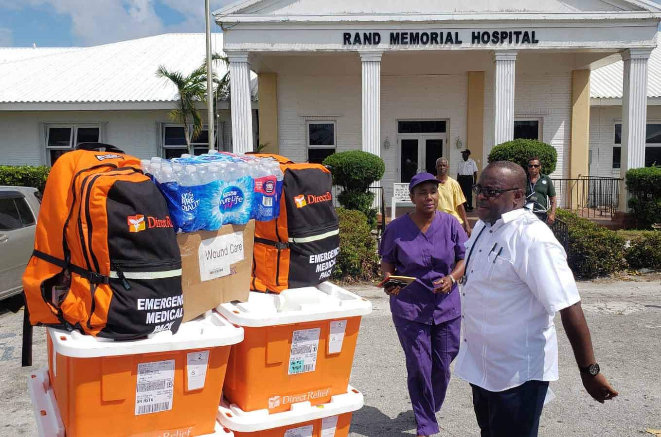 Support for disaster relief in the Bahamas