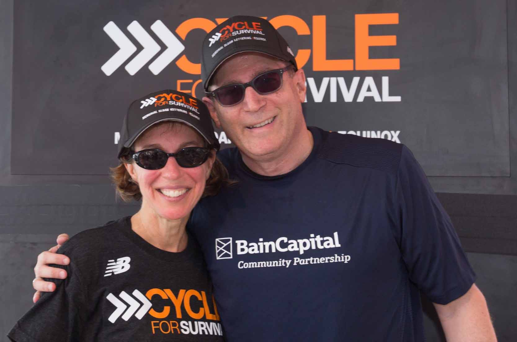 Jeannie and Jonathan Lavine Participate in Cycle for Survival Times Square Takeover