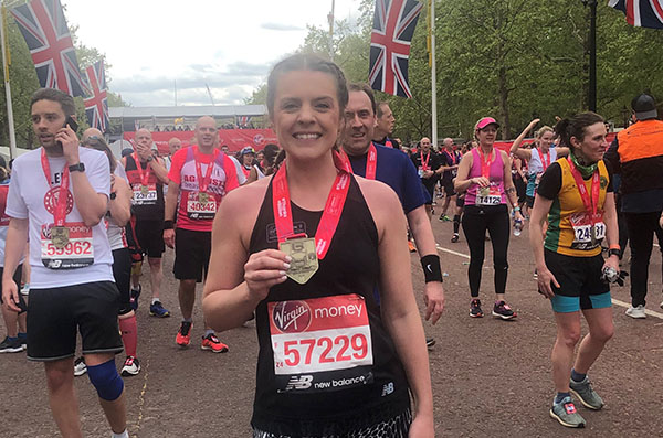 Emily Dickinson Runs London Marathon for Right to Play