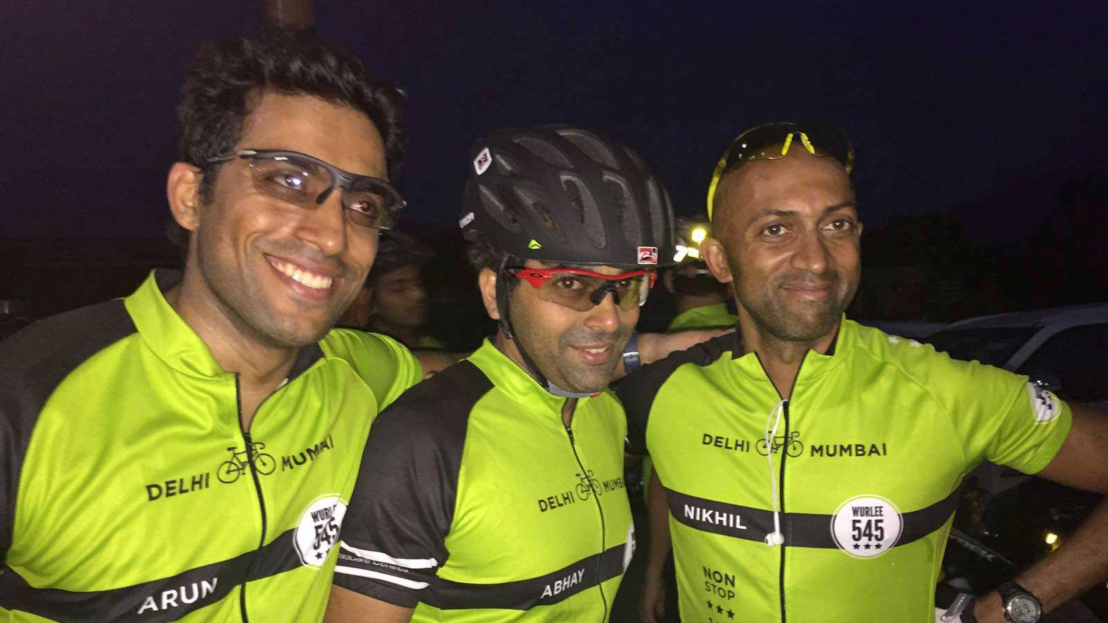 Nikhil Raghavan of Bain Capital's Mumbai office participating in 1,500 kilometer non-stop bike relay to support St. Jude Children's Research Hospital