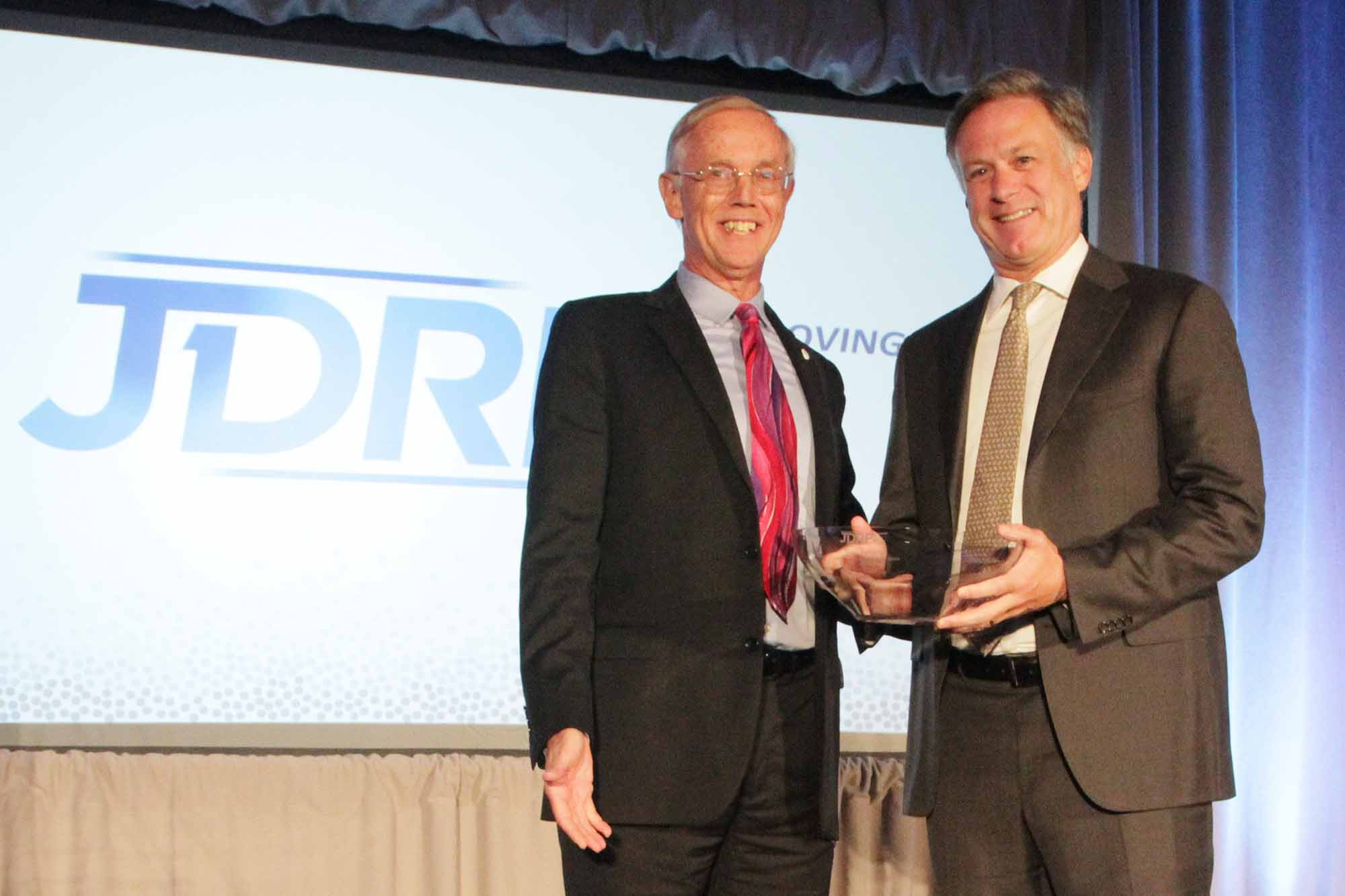 Sean Doherty Receives Leadership Award from JDRF