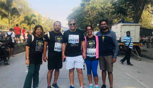Mumbai Team Members Run Tata Mumbai Marathon for Toybank