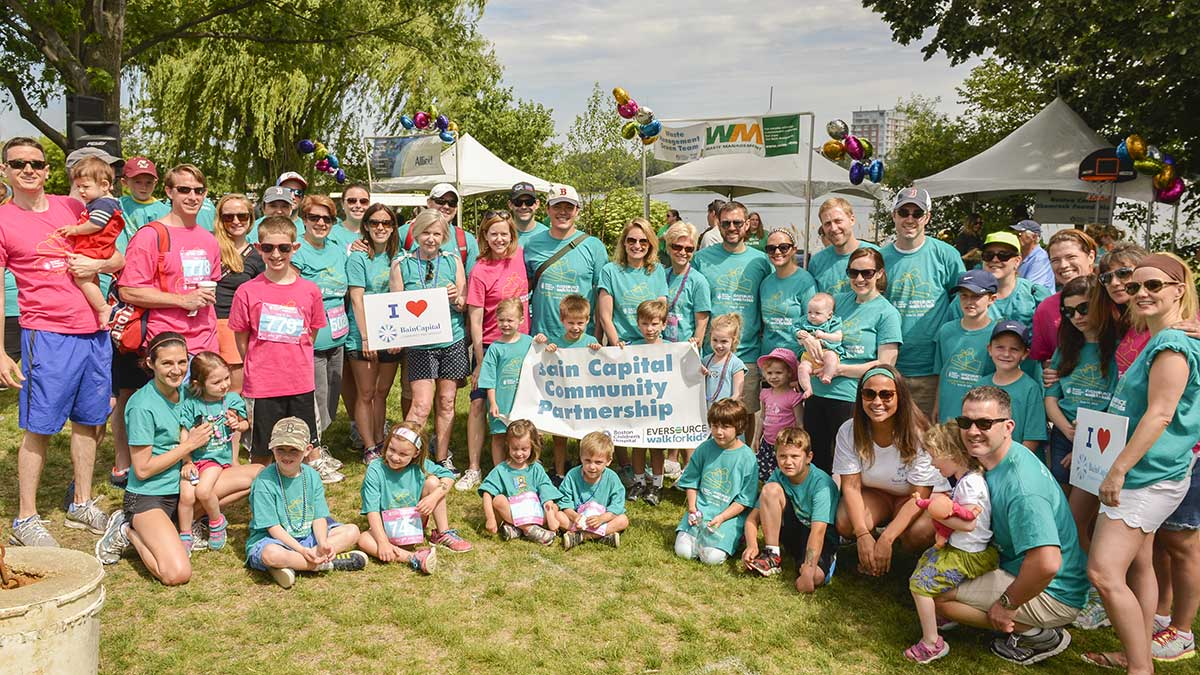 Team of 100 employees, family members and friends support Boston Children's Hospital at Eversource Walk