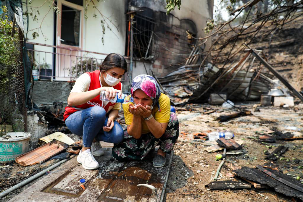 Support for disaster relief in Greece and Turkey